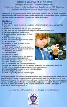 Ik merk dat er veel ouders zijn die graag meer begeleiding willen in hoog sensitiviteit bij kinderen. Is jouw kind hoog sensitief? Doe hierbij de test. Wil je graag als ouder voor jezelf of je kind hierover meer informatie, nuttige tips, en/of coaching? Meer informatie hierover kun je ook vinden op www.kinderspirit.nl #HSP