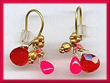 Laura Gibson 22kt Fire Opal Ruby Earrings