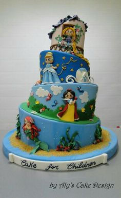 HOLY CRAP, that's cute. Disney Princesses Cake