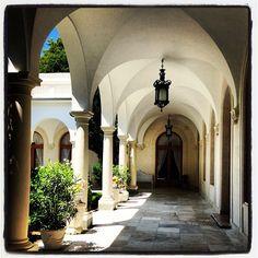 Portico surrounding the Italian Courtyard of Livadia Palace
