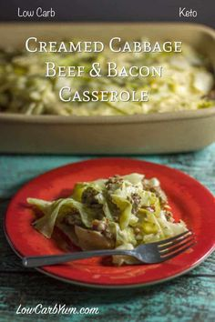 A low carb creamed cabbage ground beef casserole with bacon. The cream sauce uses Cajun spices that enhances the flavor and gives a Southern flare. g carbs per serving (sounds pretty easy) Creamed Cabbage, Cabbage And Beef, Cabbage Recipes, Small Cabbage, Radish Recipes, Bacon Recipes, Casserole Recipes, Low Carb Recipes, Cooking Recipes