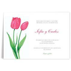 Invitaciones de boda Tulipanes Rosas Place Cards, Place Card Holders, Wedding Invitations, Initials, Guys, Cards, Weddings, Flowers