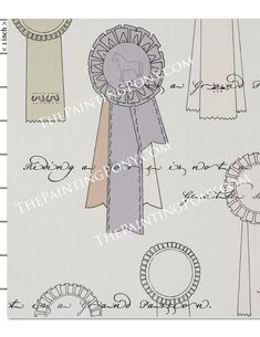 Horse Show Ribbons, Baby Horses, Young Baby, Yellow Cream, Vintage Horse, Watercolor Artwork, Show Horses, Fabric Crafts, Equestrian