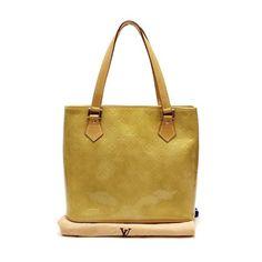 Louis Vuitton Houston Monogram Vernis Handle bags Beige Patent Leather M91004