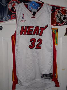 Shaquille O'neal Authentic Small #Miami Heat Jersey New With Tags Retail $75 from $29.99