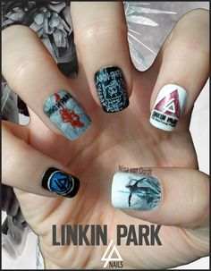 Linkin Park Nails Art | Linkin Park Nails by Ninails on DeviantArt  lp