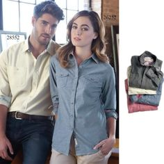 Weatherproof Vintage Chambray Long Sleeve Shirt | Button Down | Modern Classic | Company Gift Ideas