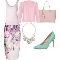 pastel look by eileen-salguera on Polyvore featuring polyvore fashion style Michael Kors Quiz Ted Baker Dorothy Perkins Gucci White House Black Market