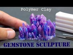 Polymer Clay Gemstone Crystals // Fimo Tutorial