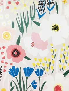 """Floral Art Print """"Anemone Garden"""" - - Welcome to our website, We hope you are satisfied with the content we offer. Art Floral, Floral Drawing, Motif Floral, Floral Prints, Art Prints, Illustration Blume, Guache, Floral Illustrations, Surface Pattern Design"""