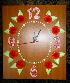 quilling falióra / quilled wall clock