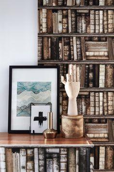 Antique Bookshelves - Wallpaper