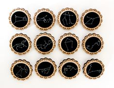 Zodiac Constellation Wooden Brooches Oh My Stars by ShadeOfABonsai <3 I need this now!! <3