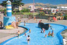 Whale pool, New Brighton, Christchurch, New Zealand Christchurch New Zealand, New Brighton, Old And New, Whale, Australia, Memories, City, Nature, Sun