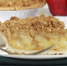 Apple Custard Streusel Pie with #tofu! The tangy apples and creamy Custard Dessert Tofu make the filling of this pie to die for. Combine that with the crunchy streusel top, and you've got a match made in heaven.