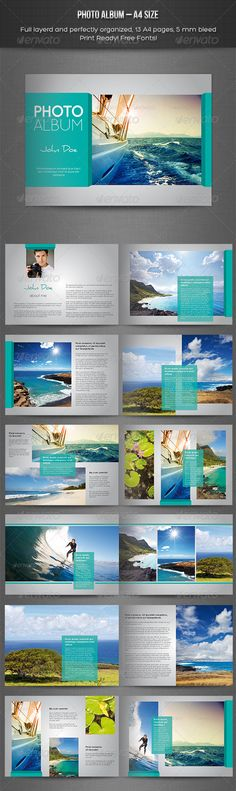 Photo Album – Landscape Template - Photo Albums Print Templates