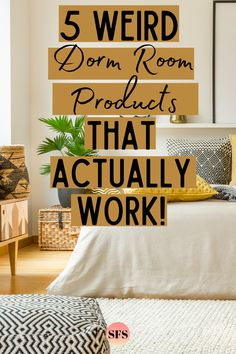 There are some crazy products that are made for dorm rooms! These are 5 that actually work and aren't a total waste of money! College Dorm List, College Dorm Checklist, College Dorm Organization, College Dorm Essentials, College Dorm Bedding, College Dorm Rooms, College Packing, College Survival, College Life