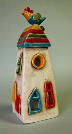 Ceramic Wall Art, Ceramic Clay, Ceramic Pottery, Pottery Art, Clay Houses, Ceramic Houses, Miniature Houses, Pottery Sculpture, Sculpture Clay