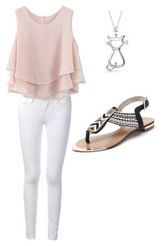 """""""Summer is cool"""" by trinclifford-1 ❤ liked on Polyvore featuring Frame Denim, Chicwish and Bling Jewelry"""