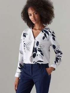 Floral Blouse, Ikon, Blouses For Women, Elegant, Lady, Jackets, Shirts, Shopping, Therapy