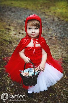 Little Red Riding Hood Tutu Costume - sizes 3 through 5 only Halloween Costume on Etsy, $40.00