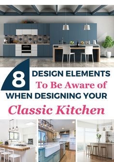 Check out these beautiful design elements that you'll definitely want to incorporate into your classic kitchen design. Design inspiration for those looking to remodel their kitchen for a more classic look. Design Design, Design Elements, Design Ideas, Interior Design Guide, Interior Decorating, Best Paint Colors, Effortless Chic, Interior Walls, Home Renovation