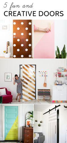 5 Fun & Creative Doors for inspiration!