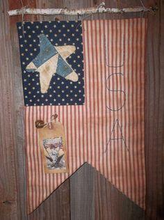 Sweet Primitive Handmade Americana Door by Sweetrainprimitives, $18.95