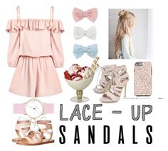 """Lace Up Sandals Contest"" by faavequeen on Polyvore featuring Steve Madden, Carvela, Decree, contestentry, laceupsandals and PVStyleInsiderContest"