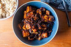black pepper tofu and eggplant – smitten kitchen - All Recipes Vegetarian Recipes, Cooking Recipes, Healthy Recipes, Healthy Meals, Tofu Recipes, Vegetarian Roast, Delicious Meals, Healthy Food, Gastronomia