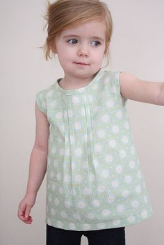 Pleated toddler tunic. I want Kate to sew me stuff :) Love everything.