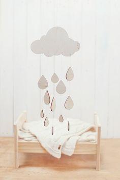 Laser Cut Raindrop Mobile : 30 Baby Mobiles to Buy or DIY via Brit + Co.