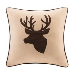Madison Park Deer Faux Suede Feather Down Filled 20-inch Throw Pillow - Overstock™ Shopping - Great Deals on Madison Park Throw Pillows