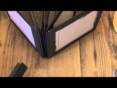 How to bind chipboard pages into a mini album - I have just been given two whole boxes of card (just like chipboard).  Will be making a few of these!!