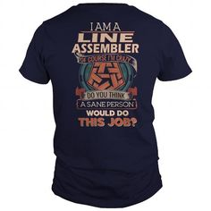 Awesome Tee  LINE ASSEMBLER T shirts #tee #tshirt #named tshirt #hobbie tshirts #Assembler