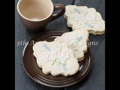 ▶ Enchanting Brush Embroidery Sugar Cookie Plaque - YouTube