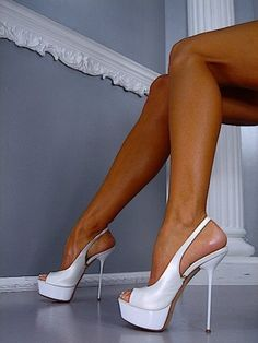 White high heels | High heels | Pinterest | White high heels and ...