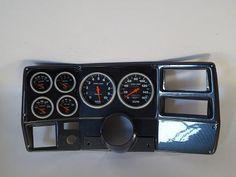 "84 87 Chevy Truck Carbon Dash Carrier Panel w Am Sport Comp Electric 5"" Gauges | eBay"