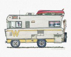 Whimsical Winnebago Camper RV (pinned by haw-creek.com)