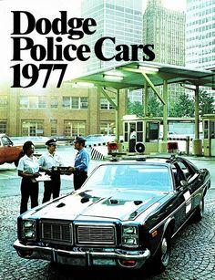 Vintage Police Car Brochure - Dodge Police Cars 1977
