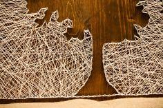 Arbre Silhouette String Art par FORTHELOVECO sur Etsy