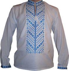 #вишиванка чоловіча безпосередньо на домотканому полотні (Арт. 00427), 420 ГРН.