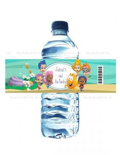 Bubble Guppies Printable Birthday Party Water Bottle Label by EmmasPartyCreations for $5.00
