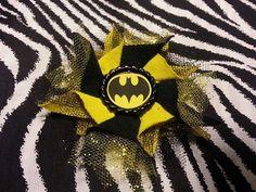 ~ Handmade~ Flower Yellow Black Batman Hair Bow Clip Cosplay Comic Super Heroes in Clothing, Shoes & Accessories, Women's Accessories, Hair Accessories   eBay
