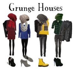 The Hogwarts Houses Grunge style