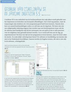 Gebruik van Coreldraw SEin Janome Digitizer 5.5    StitchatHome 69