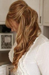 Light brown/dark blonde hair with highlights