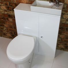 Piccolo Duo cloakroom basin & WC unit gloss white | The Bathroom Cellar