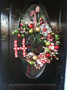 Homemade Christmas wreath by Michelle Huntley.