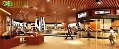 3D shopping mall Interior Rendering Studio  Tianjin 3d Interior Design, Interior Rendering, Commercial Interior Design, Commercial Interiors, Shopping Mall Interior, 3d Home, Design Firms, Store Design, Tianjin